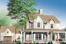 Country Exterior - Front Elevation Plan #23-549