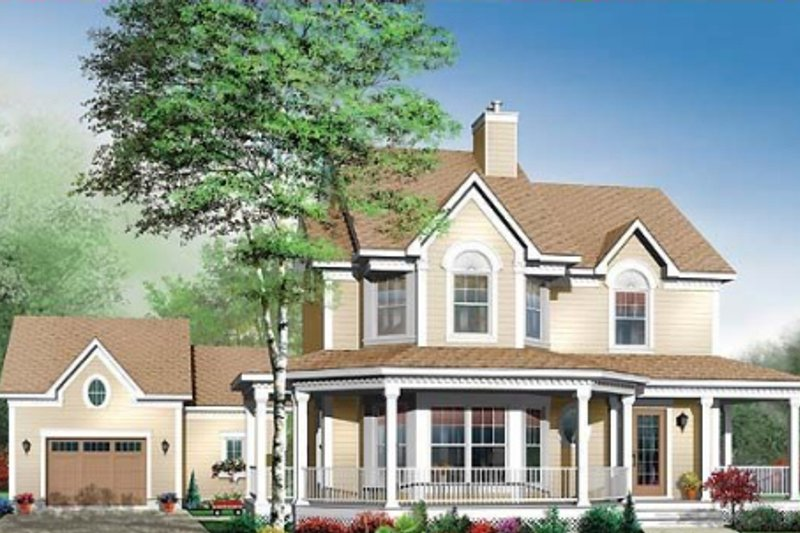 Country Exterior - Front Elevation Plan #23-549 - Houseplans.com