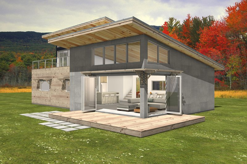 Modern Style House Plan - 3 Beds 2 Baths 2115 Sq/Ft Plan #497-31 Exterior - Front Elevation