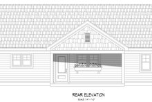 House Plan Design - Country Exterior - Rear Elevation Plan #932-383