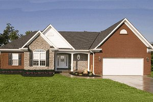 Architectural House Design - Traditional Exterior - Front Elevation Plan #46-103