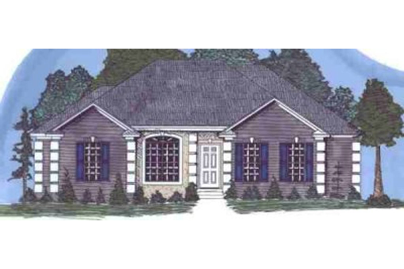 Traditional Style House Plan - 4 Beds 2 Baths 1759 Sq/Ft Plan #69-165 Exterior - Front Elevation