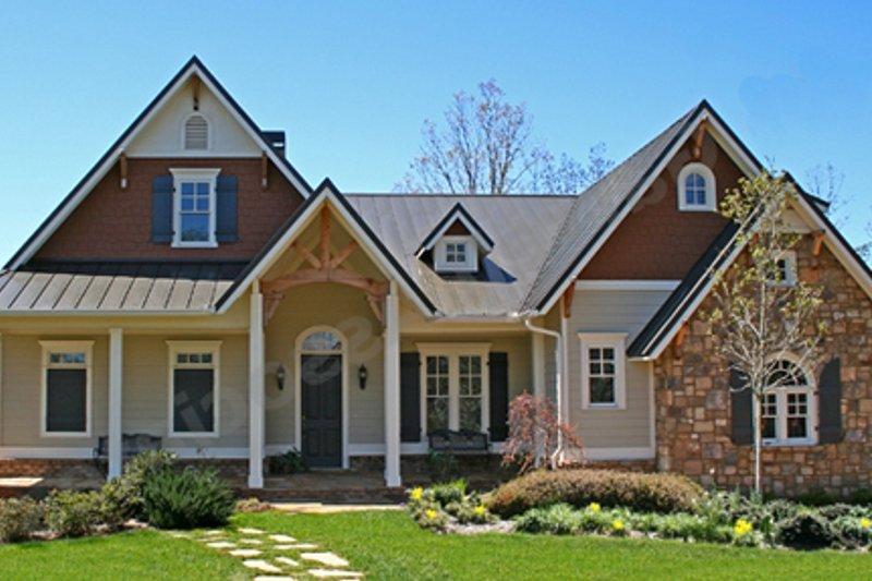 Cottage Exterior - Other Elevation Plan #54-137 - Houseplans.com