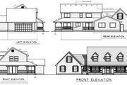 Traditional Style House Plan - 4 Beds 2.5 Baths 2487 Sq/Ft Plan #101-205 Exterior - Rear Elevation