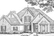 European Style House Plan - 4 Beds 3.5 Baths 2852 Sq/Ft Plan #310-388 Exterior - Front Elevation