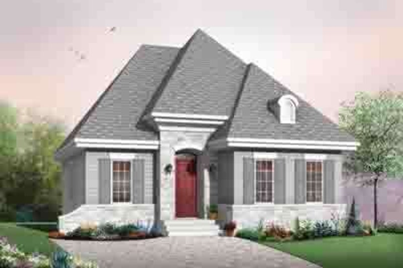 Cottage Exterior - Front Elevation Plan #23-619