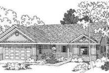 Ranch Exterior - Front Elevation Plan #124-389