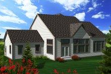 Tudor Exterior - Rear Elevation Plan #70-1139