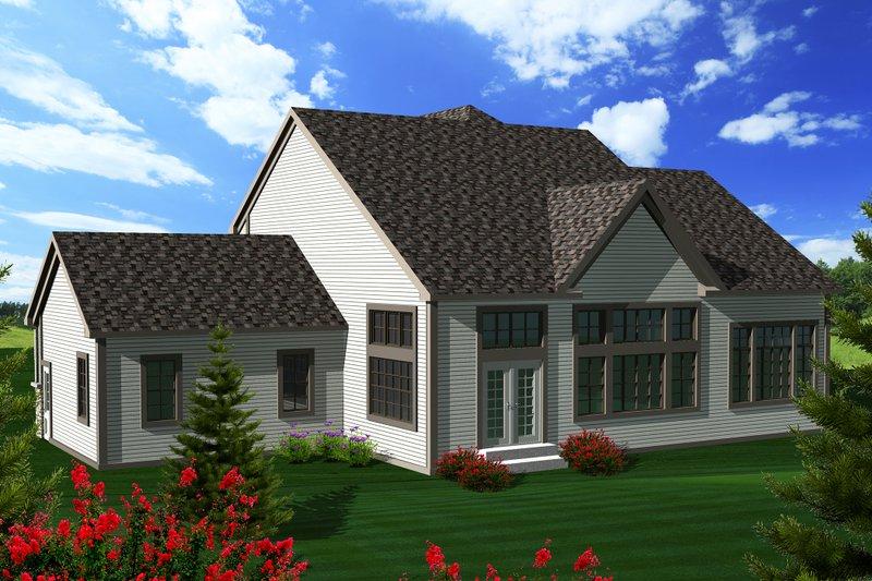 Tudor Exterior - Rear Elevation Plan #70-1139 - Houseplans.com