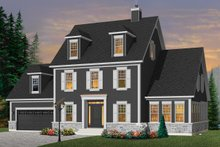 Home Plan - Colonial Exterior - Front Elevation Plan #23-2260