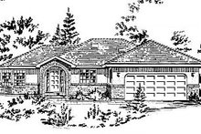 Ranch Exterior - Front Elevation Plan #18-159