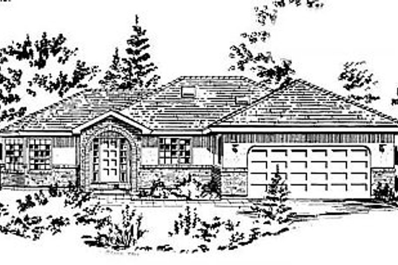 House Blueprint - Ranch Exterior - Front Elevation Plan #18-159