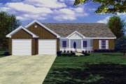 Traditional Style House Plan - 3 Beds 2 Baths 1426 Sq/Ft Plan #21-114 Exterior - Front Elevation