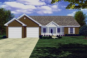 Traditional Exterior - Front Elevation Plan #21-114