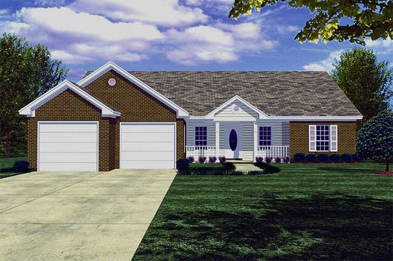 Traditional Exterior - Front Elevation Plan #21-114 - Houseplans.com
