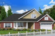 Traditional Style House Plan - 3 Beds 2 Baths 1788 Sq/Ft Plan #513-2064 Exterior - Front Elevation