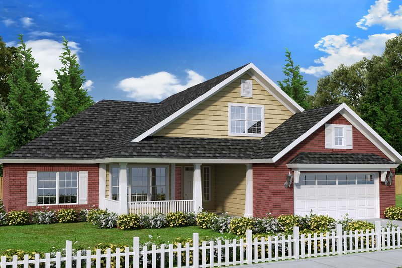 Traditional Style House Plan - 3 Beds 2 Baths 1788 Sq/Ft Plan #513-2064