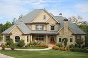 Traditional Style House Plan - 4 Beds 3.5 Baths 4138 Sq/Ft Plan #437-49 Exterior - Front Elevation