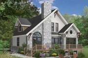 Cottage Style House Plan - 3 Beds 2 Baths 1625 Sq/Ft Plan #23-2047 Exterior - Rear Elevation