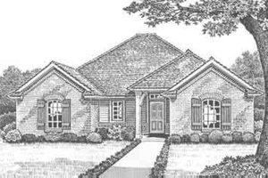 Traditional Exterior - Front Elevation Plan #310-293