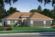 Mediterranean Style House Plan - 3 Beds 2 Baths 1720 Sq/Ft Plan #20-2174 Exterior - Front Elevation