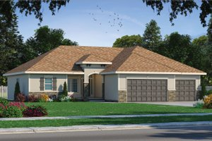 Dream House Plan - Mediterranean Exterior - Front Elevation Plan #20-2174