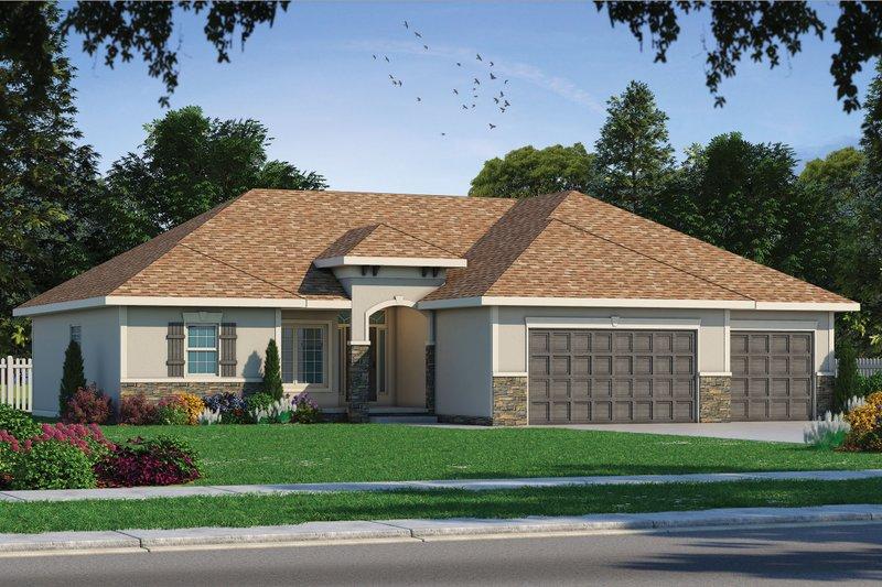 House Plan Design - Mediterranean Exterior - Front Elevation Plan #20-2174