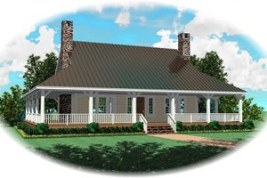 Country Exterior - Front Elevation Plan #81-13908