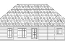 Southern Exterior - Rear Elevation Plan #21-148