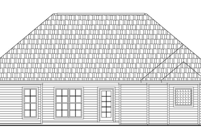 Southern Exterior - Rear Elevation Plan #21-148 - Houseplans.com