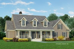Country Exterior - Front Elevation Plan #929-225