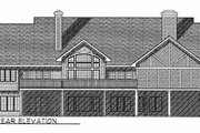 Country Style House Plan - 3 Beds 2.5 Baths 2370 Sq/Ft Plan #70-377 Exterior - Rear Elevation