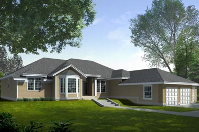 Traditional Exterior - Front Elevation Plan #94-101 - Houseplans.com