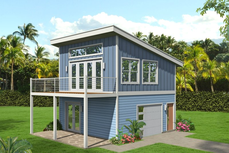 House Blueprint - Contemporary Exterior - Front Elevation Plan #932-432