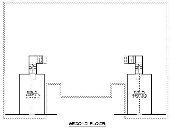 Craftsman Floor Plan - Upper Floor Plan Plan #1064-38