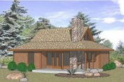 Country Style House Plan - 2 Beds 1 Baths 823 Sq/Ft Plan #116-223 Exterior - Front Elevation