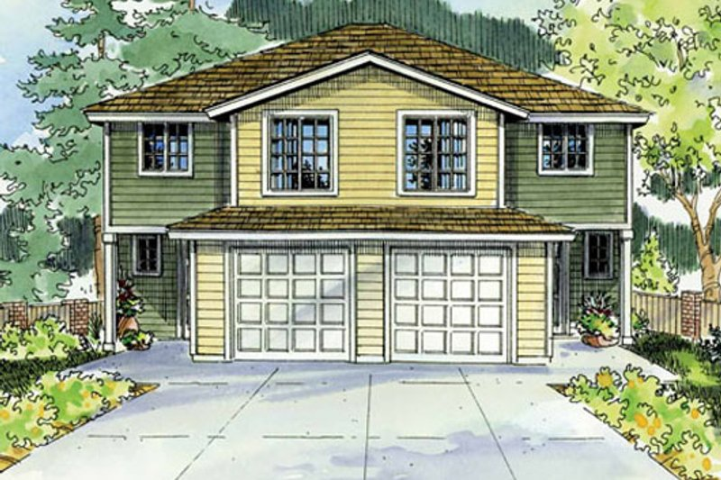 Traditional Exterior - Front Elevation Plan #124-816 - Houseplans.com