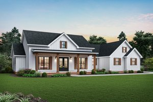 Home Plan - Farmhouse Exterior - Front Elevation Plan #48-983