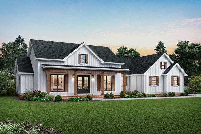 Farmhouse Style House Plan - 3 Beds 2.5 Baths 2460 Sq/Ft Plan #48-983 Exterior - Front Elevation