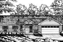Ranch Exterior - Front Elevation Plan #40-252