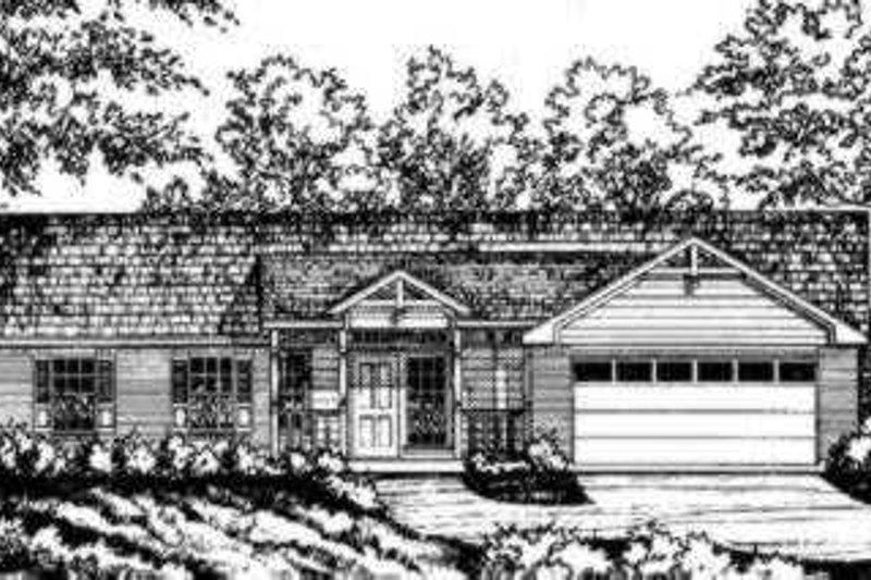 House Design - Ranch Exterior - Front Elevation Plan #40-252