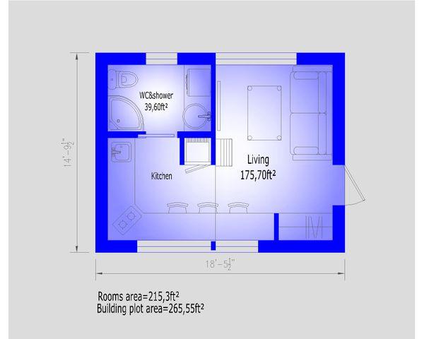 Modern Floor Plan - Main Floor Plan #549-33