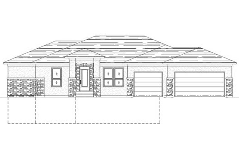 Traditional Style House Plan - 5 Beds 3 Baths 3382 Sq/Ft Plan #24-202 Exterior - Front Elevation