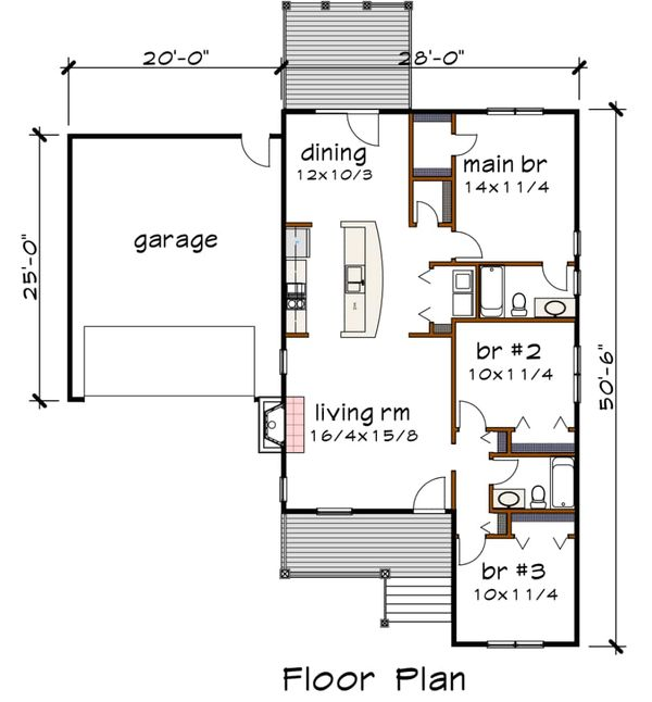 Traditional Floor Plan - Main Floor Plan Plan #79-165