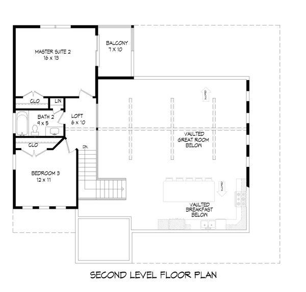 Farmhouse Floor Plan - Upper Floor Plan Plan #932-34