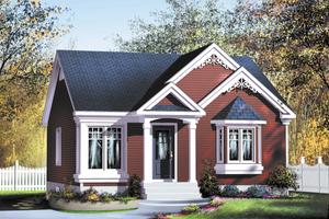 Cottage Exterior - Front Elevation Plan #25-163