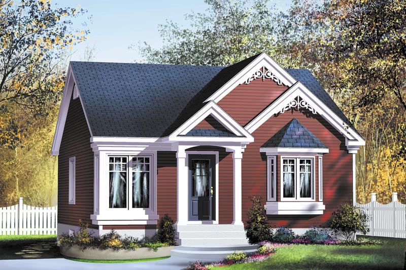 Architectural House Design - Cottage Exterior - Front Elevation Plan #25-163