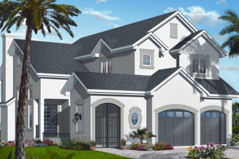 Dream House Plan - Mediterranean Exterior - Front Elevation Plan #23-2259