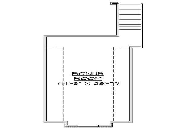 European Floor Plan - Upper Floor Plan Plan #5-388