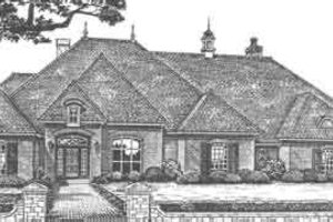 European Exterior - Front Elevation Plan #310-509